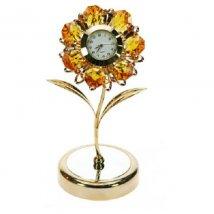 Фигурка декоративная с часами Ромашка
