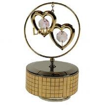 Фигурка декоративная Сердца на музыкальной подставке