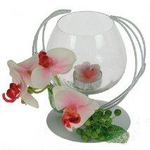 Подсвечник декоративный Розовая орхидея