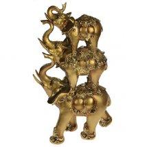 Фигурка декоративная Три слона