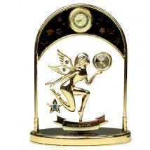 Фигурка декоративная с часами - знак зодиака Дева