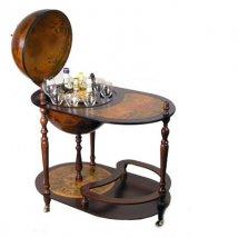 Глобус-бар напольный со столом, d=42см