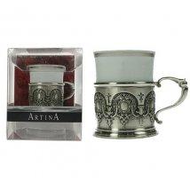 Подарочный набор для кофе Средневековый узор на 1 персону