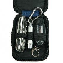 Набор для путешествий: фонарик, компас-свисток, многофункциональный нож