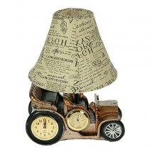 Светильник Ретро-автомобиль с часами и термометром