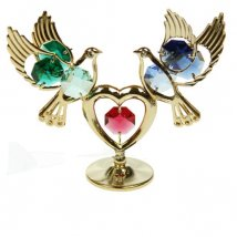 Фигурка декоративная Голуби с сердцем