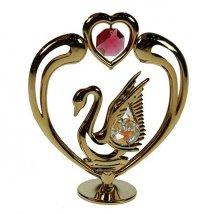 Фигурка декоративная Лебедь с сердцем