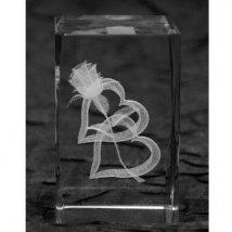 Кристалл Два сердца