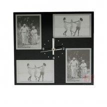 Часы-фоторамка на 4 фото
