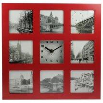 Часы фоторамка на 8 фото