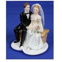 Фигурка декоративная Свадебная 8*7*10см