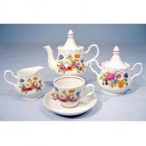 """Сервиз чайный .""""Букет цветов"""", 15 пр."""